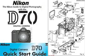 nikon d70 instruction manual, quick start guide & parts diagrams