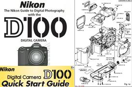 nikon d100 instruction manual, quick start guide & parts diagrams