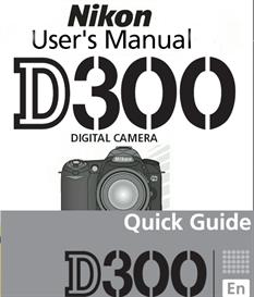 nikon d300 instruction manual & quick start guide