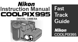 nikon coolpix 995 instruction manual & quick start guide