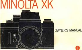 minolta xk 35mm slr camera instruction manual