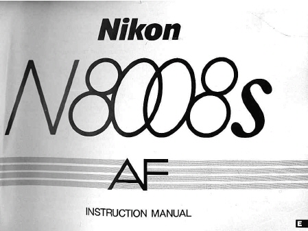 nikon n8008s f801s instruction manual other files photography rh store payloadz com Nikon N8008s User Manual Nikon N8008s User Manual
