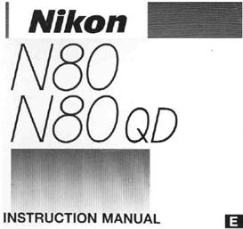 nikon n80 f80 35mm camera instruction manual
