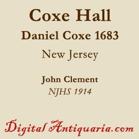 Coxe Hall | eBooks | History