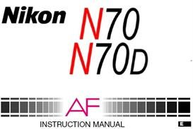 nikon n70 n70d f70 35mm camera instruction manual