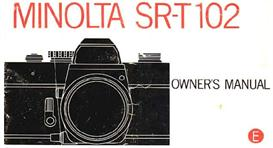 minolta sr-t102 35mm camera instruction manual