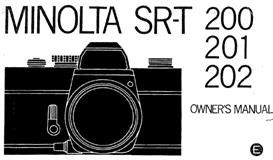 minolta sr-t200 sr-t201 sr-t202 instruction manual - 3 manuals in one