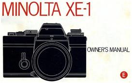 minolta xe-1 xe1 instruction manual