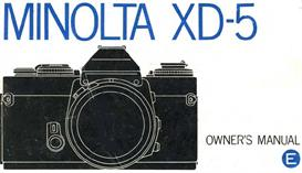 minolta xd-5 xd5 35mm camera instruction manual