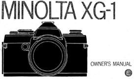 minolta xg-1 xg1 35mm camera instruction manual