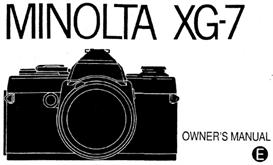 minolta xg-7 xg7 35mm camera instruction manual