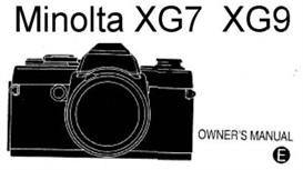 minolta xg-9 xg9 35mm camera instruction manual