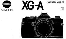 minolta xg-a xga 35mm camera instruction manual
