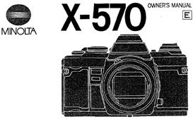 minolta x-570 x570 35mm camera instruction manual