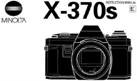 minolta x-370 x-370s 35mm camera instruction manual x370 x370s