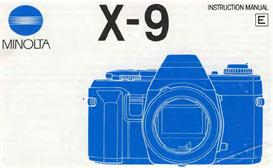 minolta x-9 x9 35mm camera instruction manual x370 x370s