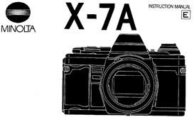 minolta x-7a x7a 35mm camera instruction manual x370 x370s