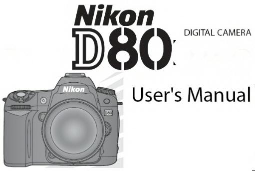 nikon d80 digital slr instruction manual other files photography rh store payloadz com nikon d800 owners manual pdf nikon d80 service manual pdf