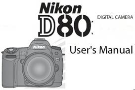nikon d80 digital slr instruction manual