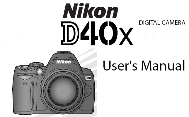 nikon d40 x digital slr instruction manual other files rh store payloadz com user manual for nikon d40 camera nikon d40x instruction manual pdf