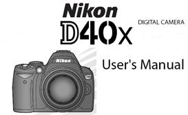 nikon d40 x  digital slr instruction manual