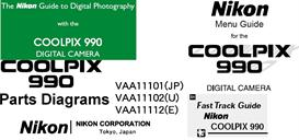 Nikon Coolpix 990 User Manual - Menu Guide- Fast Track -Parts Diagrams | Other Files | Photography and Images