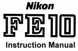 nikon fe10 instruction manual