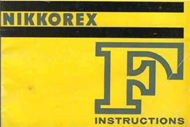 nikon nikkorex f instruction manual