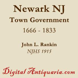 newark town government from 1666 to 1833