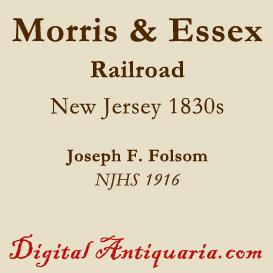 beginnings of the morris & essex railroad