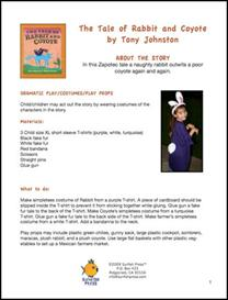 the tale of rabbit and coyote thematic unit