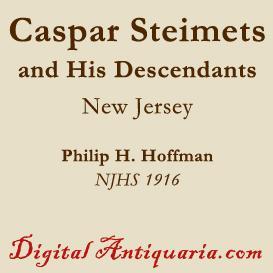 Caspar Steinmets and His Descendants | eBooks | History