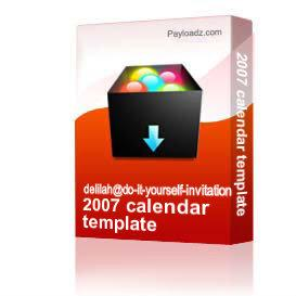 2007 calendar template | Other Files | Arts and Crafts