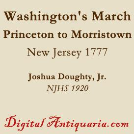 Washington's March from Princeton to Morristown | eBooks | History