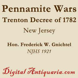 the pennamite wars and the trenton decree of 1782