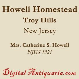 Howell Homestead of Troy Hills | eBooks | History