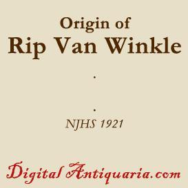 Origin of Rip Van Winkle | eBooks | History
