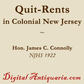 Quit-Rents in Colonial New Jersey | eBooks | History