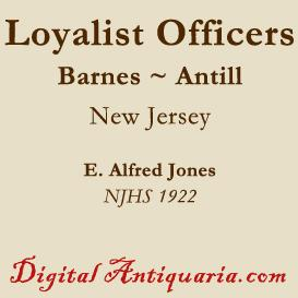 Two Loyalist Officers in New Jersey - Barnes and Antill | eBooks | History