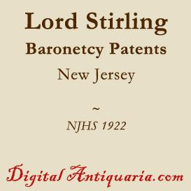 Stirling Baronetcy Patents and Gen. William Alexander's Claim | eBooks | History