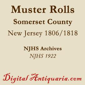military muster rolls, 1806 & 1818 - somerset county