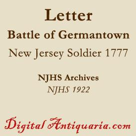 Letter Following the Battle at Germantown, 1777 | eBooks | History