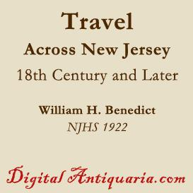 travel across new jersey in the 18th century and later