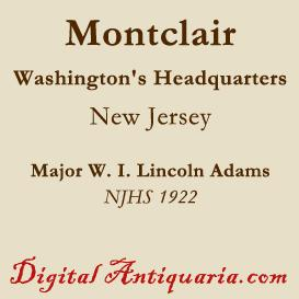 Washington's Headquarters in Montclair | eBooks | History