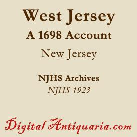 an account of west jersey 1698