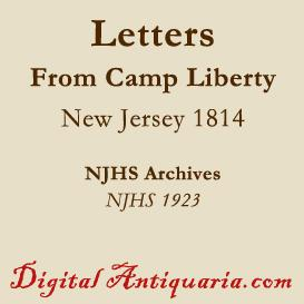 letters from camp liberty, 1814