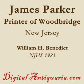james parker, the printer, of woodbridge