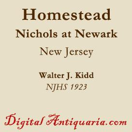 The Old Nichols Homestead, Newark (New Jersey) | eBooks | History