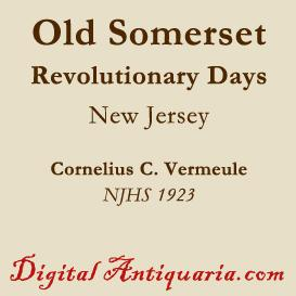 revolutionary days in old somerset (new jersey)