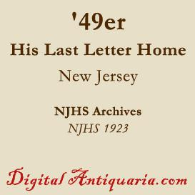 last letter from a jersey '49er